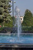 stock photo of fountain grass  - Fountain at garden in Ruse town - JPG
