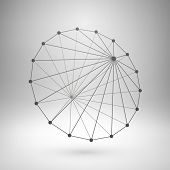 image of taper  - Wireframe mesh polygonal element - JPG