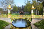 image of tsarskoe  - Bridge in the Alexander park in Tsarskoe Selo Russia - JPG