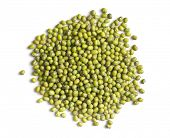 stock photo of mung beans  - mung beans on white background - JPG