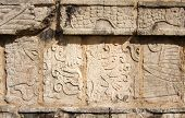 pic of building relief  - Wall of temple with bas - JPG