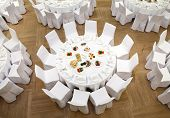 stock photo of banquet  - Beautifully organized event  - JPG