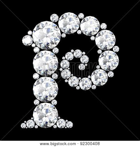 A Stunning Beautiful P Set In Diamonds