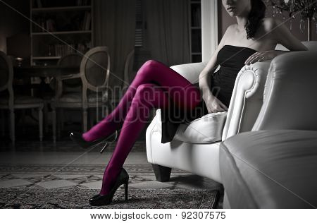 Purple stockings