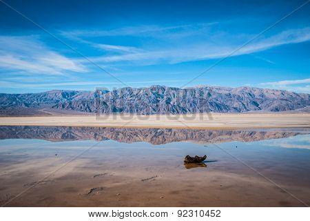 Rock In Death Valley Stream