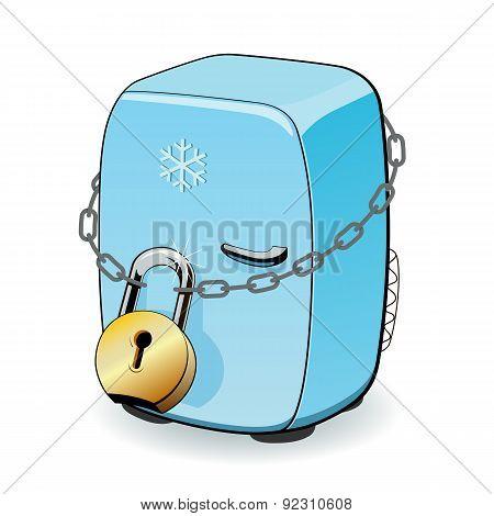 The fridge is locked