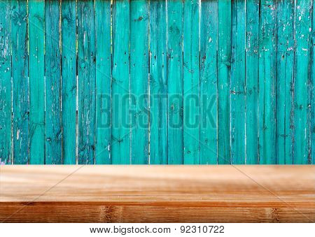 Wooden Background With Empty Tabletop