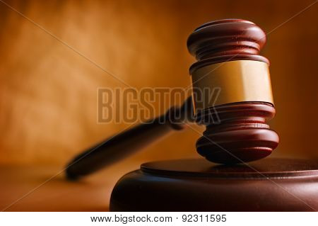 Gavel Close Up.