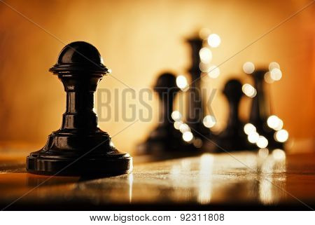 Pawn And Chess Pieces.