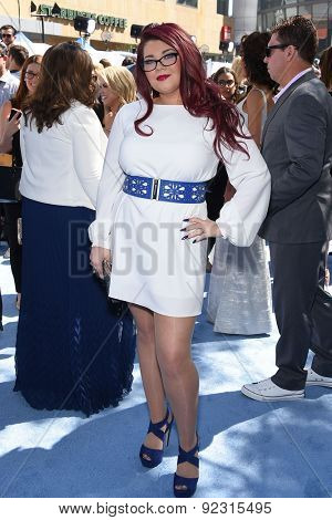 LOS ANGELES - APR 12:  Amber Portwood arrives to the MTV Movie Awards 2015  on April 12, 2015 in Hollywood, CA