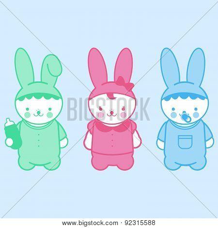 Cute bunny babies