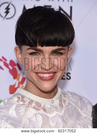 LOS ANGELES - MAY 16:  Ruby Rose arrives to the An Evening With Women  on May 16, 2015 in Hollywood, CA