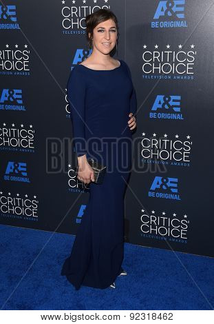 LOS ANGELES - MAY 31:  Mayim Bialik arrives to the Critic's Choice Television Awards 2015  on May 31, 2015 in Hollywood, CA