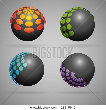 Sphere with dots
