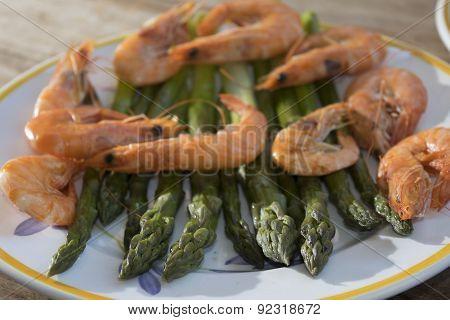 Asparagus And Shrimps