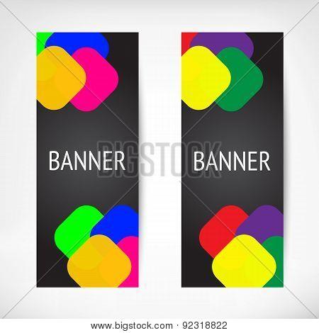 Vertical black web banners