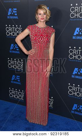 LOS ANGELES - MAY 31:  Joelle Carter arrives to the Critic's Choice Television Awards 2015  on May 31, 2015 in Hollywood, CA