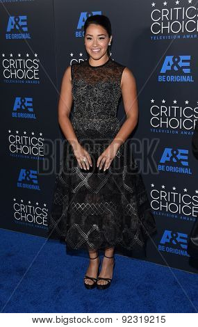 LOS ANGELES - MAY 31:  Gina Rodriguez arrives to the Critic's Choice Television Awards 2015  on May 31, 2015 in Hollywood, CA