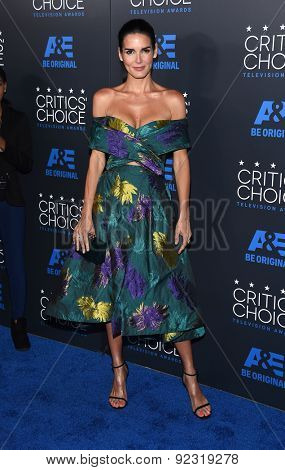 LOS ANGELES - MAY 31:  Angie Harmon arrives to the Critic's Choice Television Awards 2015  on May 31, 2015 in Hollywood, CA