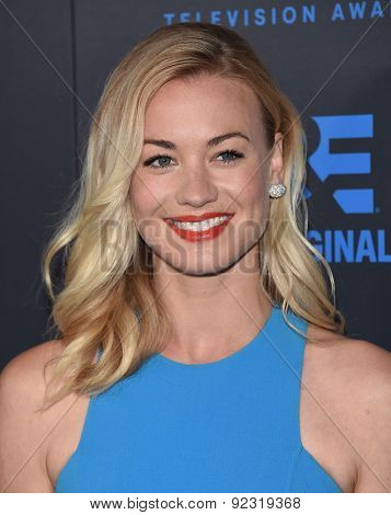 LOS ANGELES - MAY 31:  Yvonne Strahovski arrives to the Critic's Choice Television Awards 2015  on May 31, 2015 in Hollywood, CA