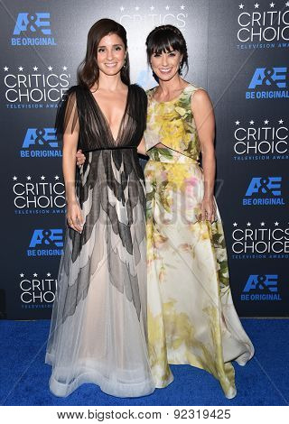 LOS ANGELES - MAY 31:  Shiri Appleby & Constance Zimmer arrives to the Critic's Choice Television Awards 2015  on May 31, 2015 in Hollywood, CA