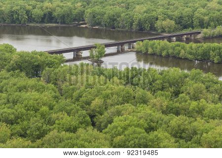 Railroad Bridge Over Wisconsin River