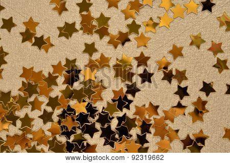 Confetti In The Form Of Gold Stars