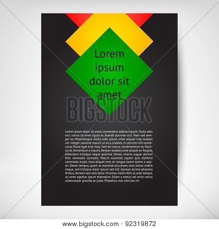 Vector Vertical Flayer leaflet