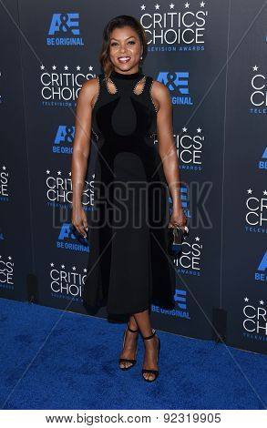 LOS ANGELES - MAY 31:  Taraji P. Henson arrives to the Critic's Choice Television Awards 2015  on May 31, 2015 in Hollywood, CA