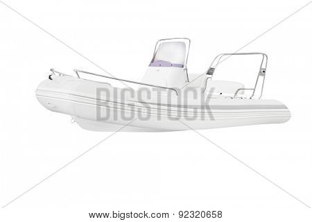 The image of an inflatable boat
