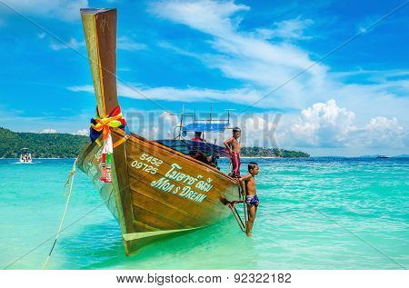 Longtail boat on Andaman Sea,Thailand