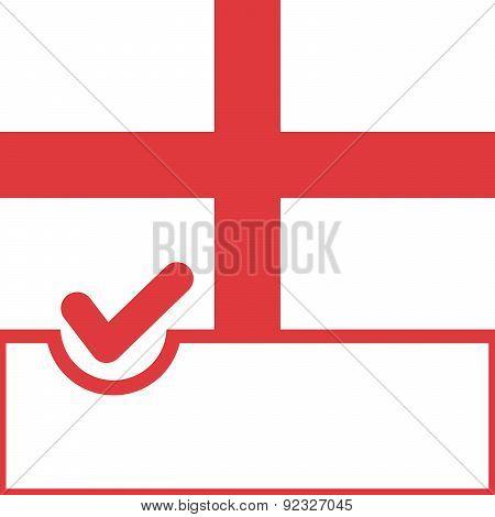 Voting Symbol England Flag