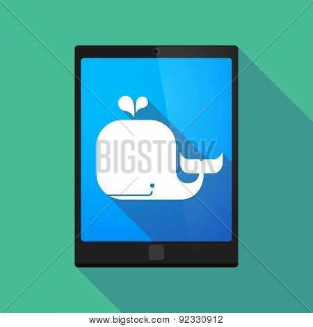 Tablet Pc Icon With A Whale