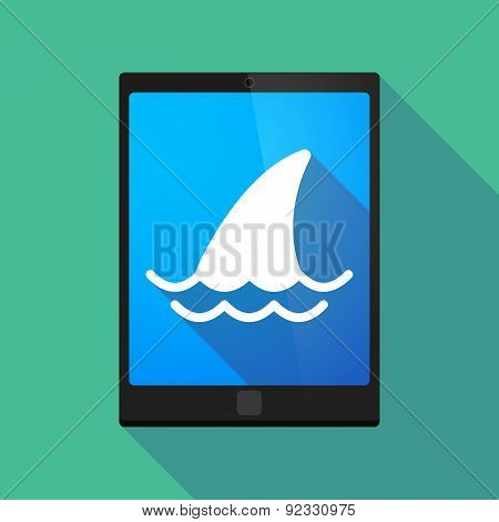Tablet Pc Icon With A Shark Fin