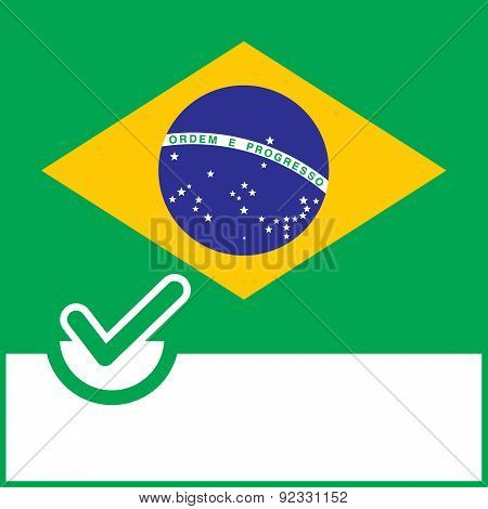 Voting Symbol Brazil Flag