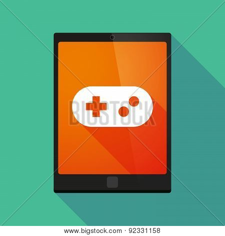 Tablet Pc Icon With A Gamepad