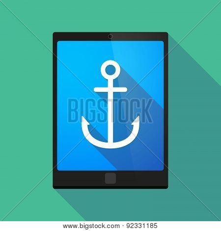 Tablet Pc Icon With An Anchor