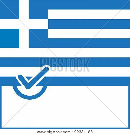 Voting Symbol Greece Flag