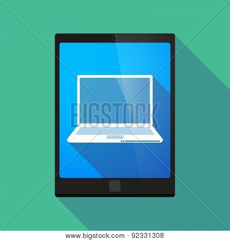 Tablet Pc Icon With A Laptop