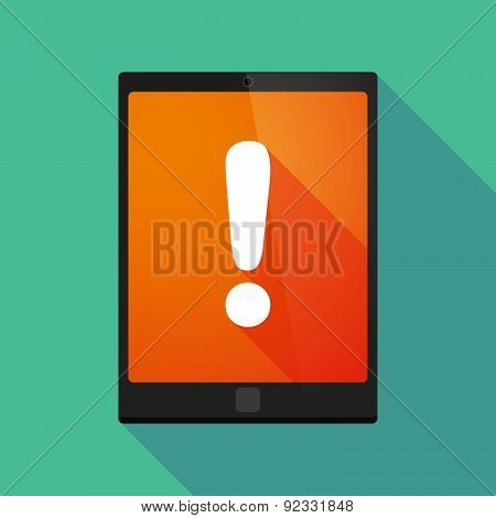 Tablet Pc Icon With An Admiration Sign