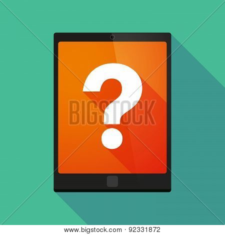 Tablet Pc Icon With A Question Sign