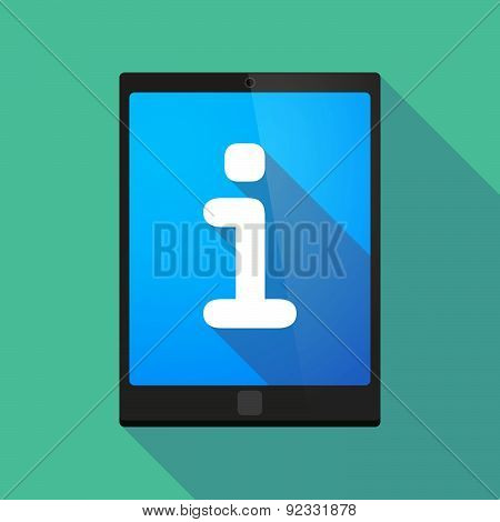 Tablet Pc Icon With An Info Sign
