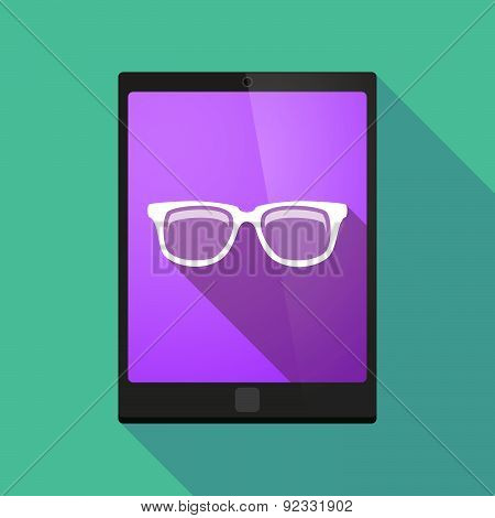 Tablet Pc Icon With A Glasses