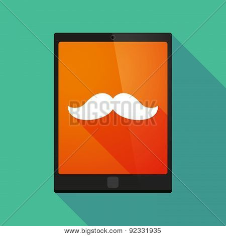 Tablet Pc Icon With A Moustache