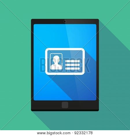 Tablet Pc Icon With An Id Card