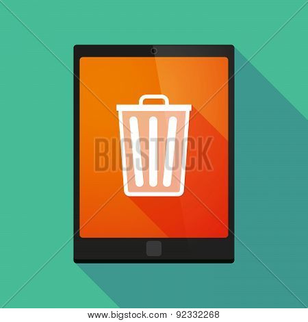 Tablet Pc Icon With A Trash Can