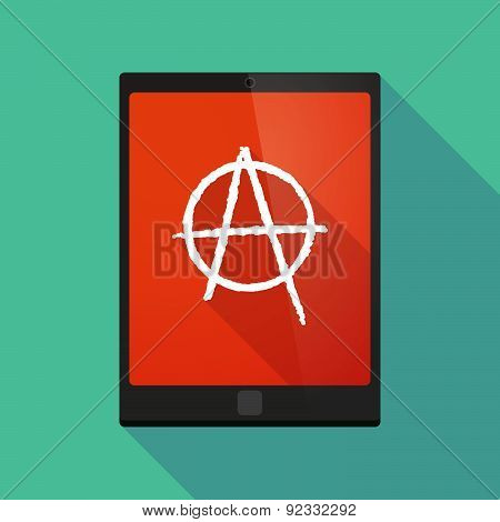 Tablet Pc Icon With An Anarchy Sign