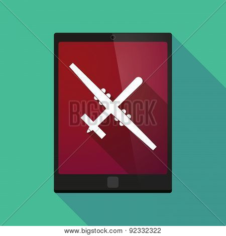 Tablet Pc Icon With A War Drone