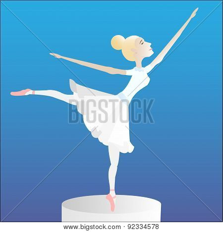 Ballerina on a pedestal