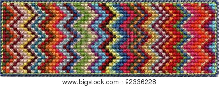 Colorful zig zag pattern